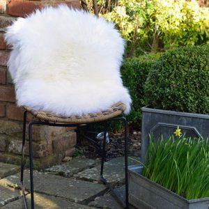 Silky Sheepskin Rug Ivory