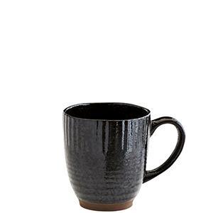 Black Stoneware Mug