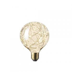 Pearl LED E27 Gold Stars Bulb Gold