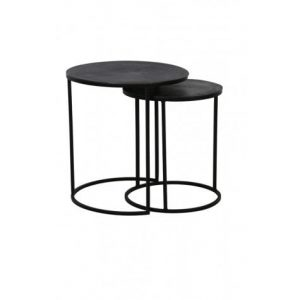Raw Lead Metal Side Table Large