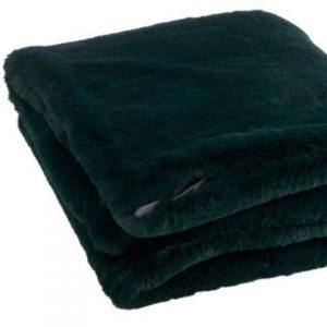 Dark Green fleece throw Material: Polyester Dimensions: L180cm W130cm