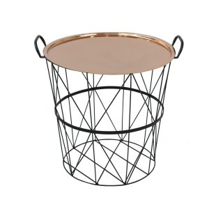 Medium Wire Storage Table with Copper Lid Tray