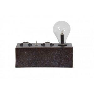 Fabian Block Antique Bronze Table Lamp