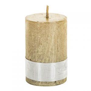 PTMD Metallic Shades Pillar Candle (6x4cm) X Small Gold