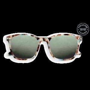 Izipizi Sun Nautic Sunglasses in Blue Tortoise with Polarised Green Lenses