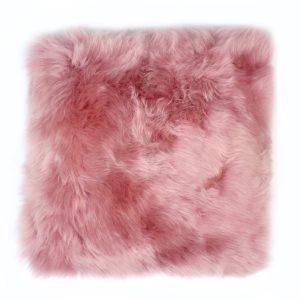 Silky Sheepskin Cushion Lilac
