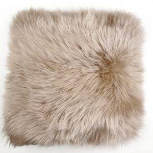 Silky Sheepskin Cushion Rose Quartz