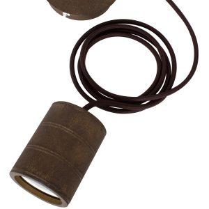 Giant Bronze Pendant E40 Cord Set