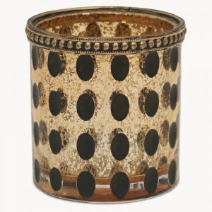 Spotted Votive with Bronze Finish