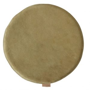 Olive Suede Round Padded Seat Cushion