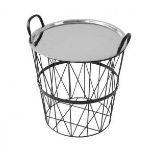 Medium Wire Storage Table with Nickel Lid Tray