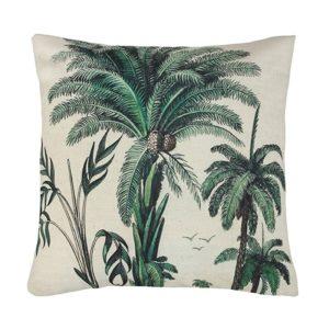 Printed Palm Trees Cushion