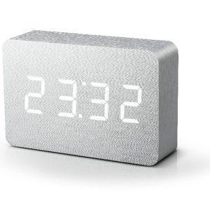 Brick Aluminium Click Clock with White LED