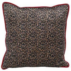 Velvet Leopard Cushion