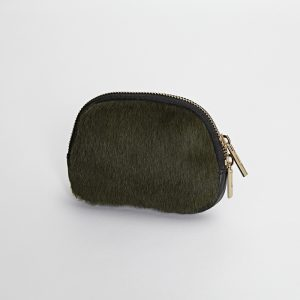 Leather & Olive Hide Coin Purse