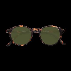Izipizi #D Sunglasses in Tortoise with Green Lenses