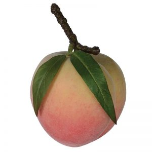 Faux Peach Decoration with leaves