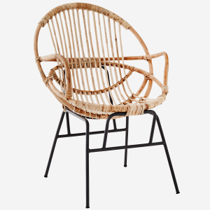 Natural Bamboo Chair with Armrest