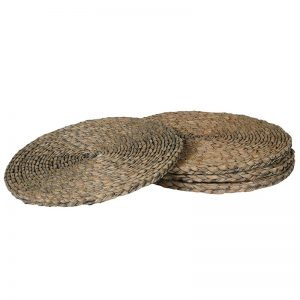 Natural Round Rush Placemat