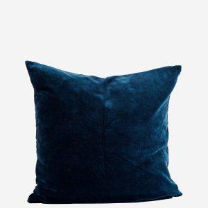 Petrol Blue Velvet Square Cushion
