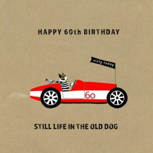 Life In The Old Dog Greetings Card