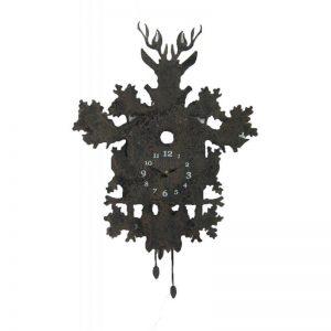 Rusty Look Stag Clock