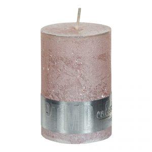 Metallic Pink Pillar Candle