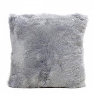 Sheepskin Cushion Platinum
