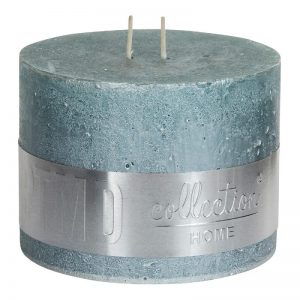 PTMD Metallic Mint Green Block Candle (12x9cm)