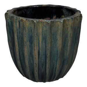 Hayes Black Ceramic Round Pot