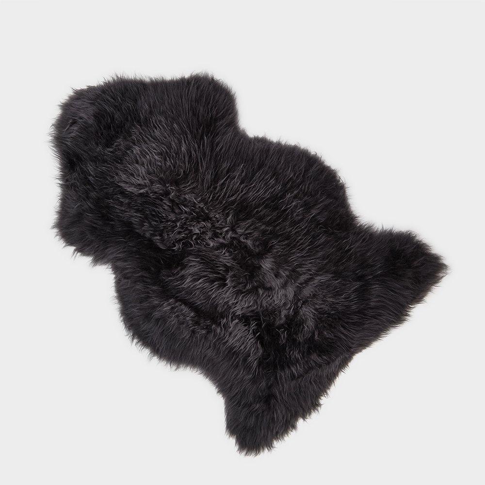Silky Sheepskin Rug Black