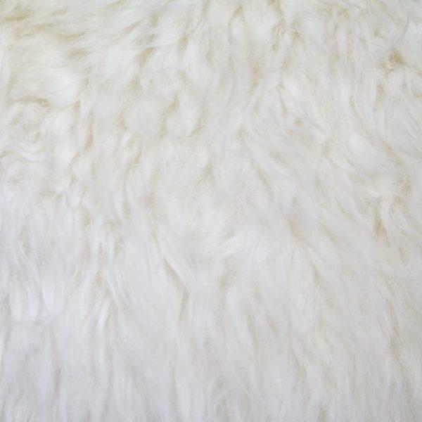Silky Quad Sheepskin Rug Ivory