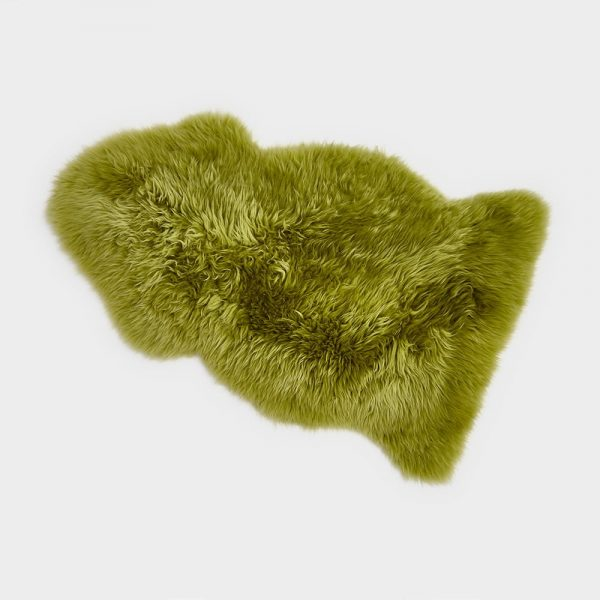 Silky Sheepskin Moss Green