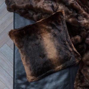 Faux Fur Cushion Mink