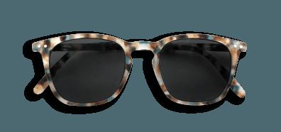Izipizi #E Sunglasses Blue Tortoise with Soft Grey Lenses