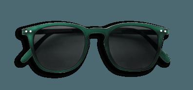 Izipizi #E Sunglasses Green Crystal Soft/Grey Lenses