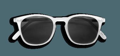 Izipizi #E Sunglasses White Crystal with Grey Lenses