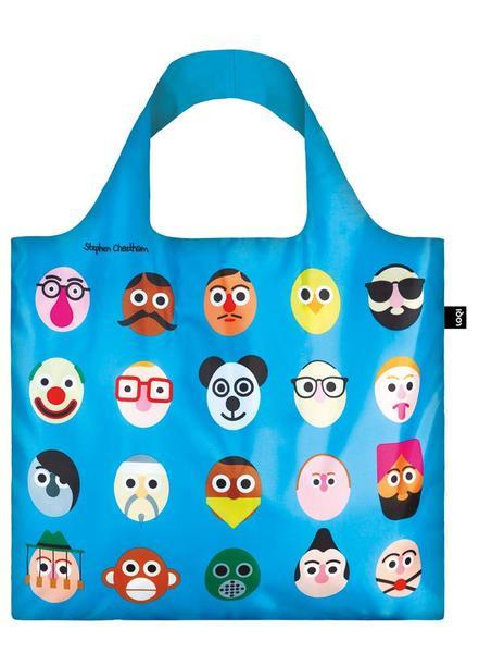 Loki Stephen Cheetham's Faces Bag Blue