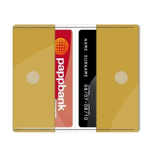 Gold Metallic Card Holder
