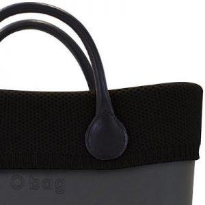 O Bag Mini Wool Knit Trim Black