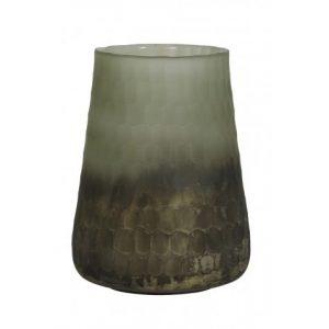 Vintage Effect Green & Gold Ombre Vase