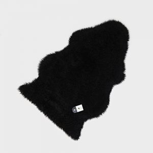 Curly Sheepskin Rug Black