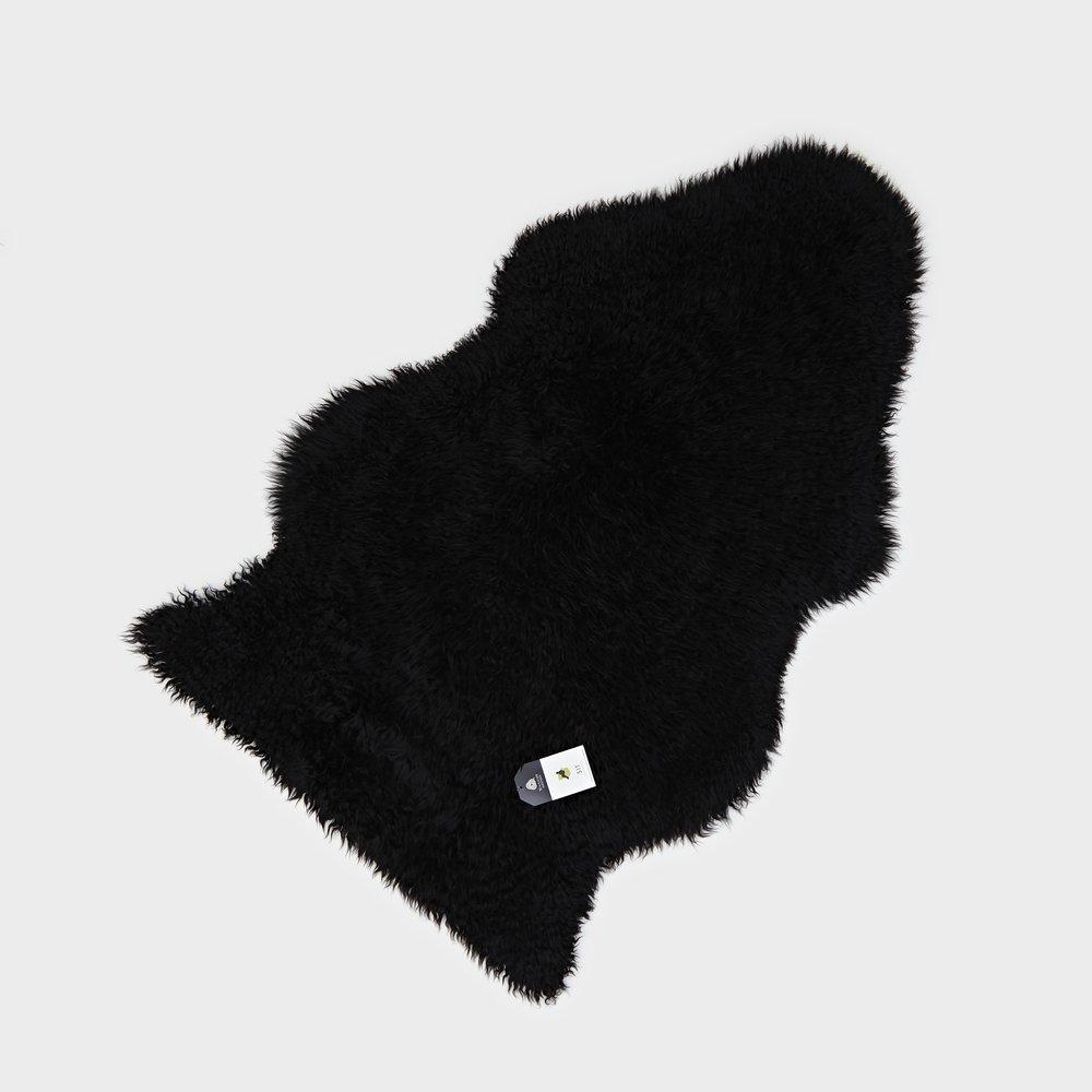 Curly Sheepskin Rug Black Regular