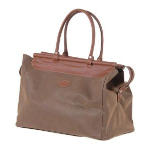 Brown Travel Bag with Bar Top