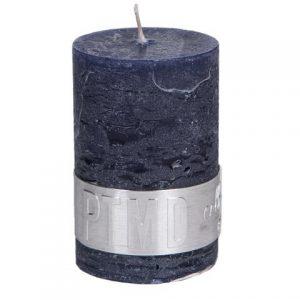 PTMD Rustic Dark Shades Pillar Candle (6x4cm)X Small Night Blue