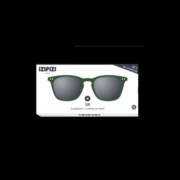 Izipizi #E Sunglasses Green Crystal Soft Grey Lenses