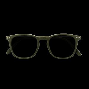 Izipizi #E Reading Sunglasses Khaki Green Grey Lenses