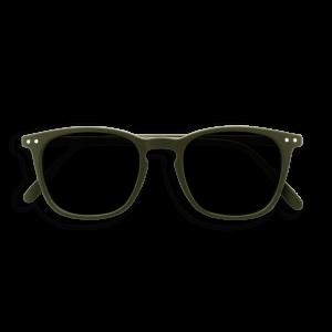 Izipizi #E Sunglasses Khaki Green with Soft Grey Lenses