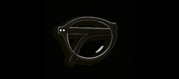 Izipizi #F Foldable Frame Reading Glasses Black