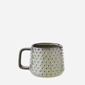 Green Stoneware Cactus Mug